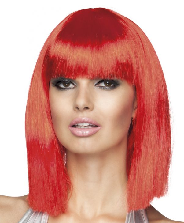 Photo du produit Perruque carré mi-long rouge femme