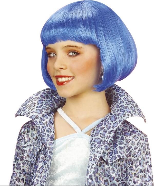 Photo du produit Perruque courte cabaret bleue fille