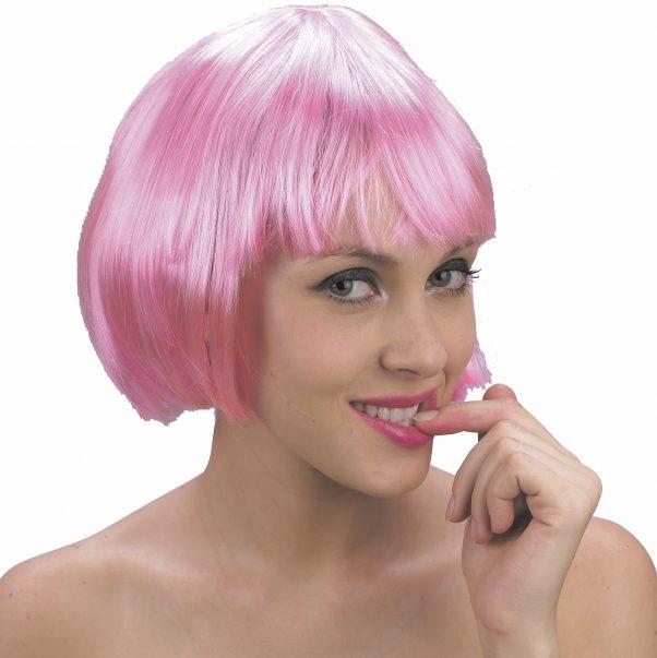 Photo du produit Perruque courte rose à frange femme