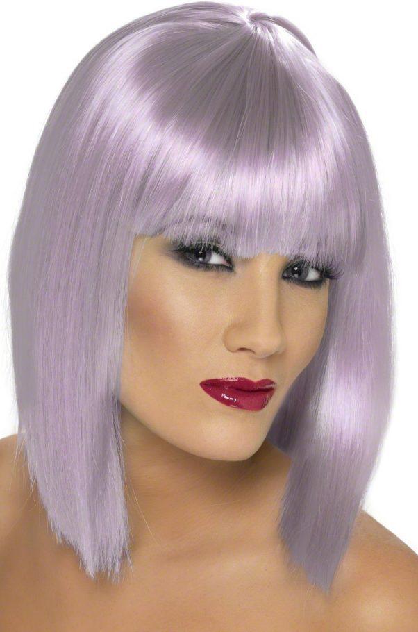 Photo du produit Perruque carré mi-long violette pâle femme