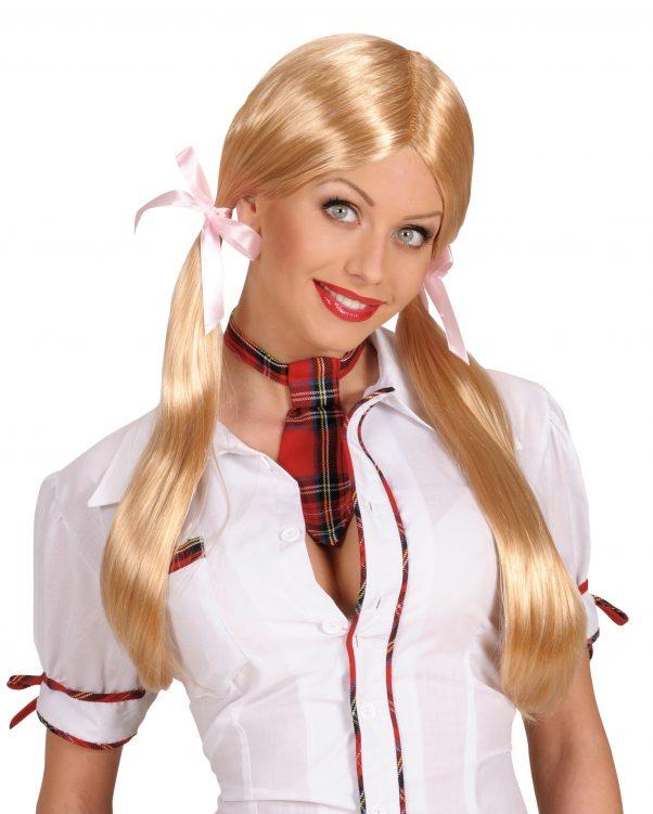 Photo du produit Perruque d'écolière blonde femme