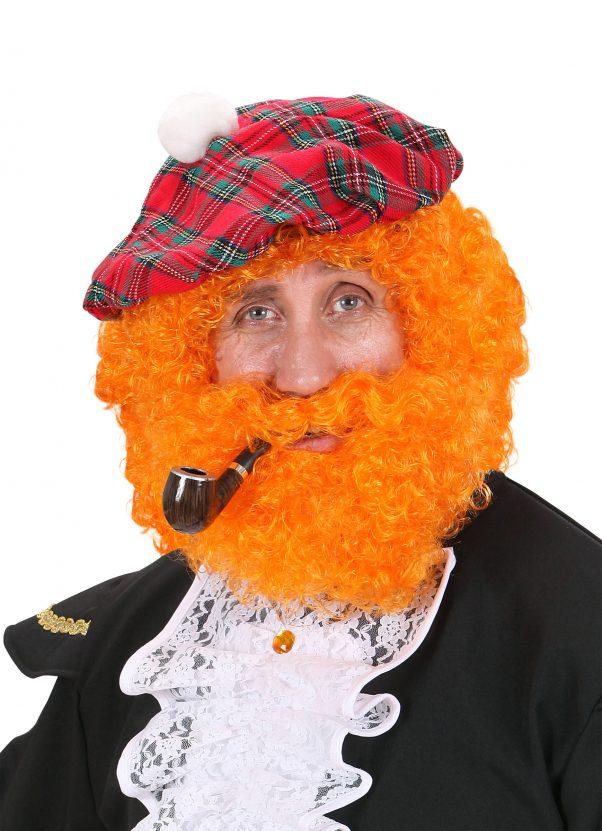 Photo du produit Perruque écossais orange homme