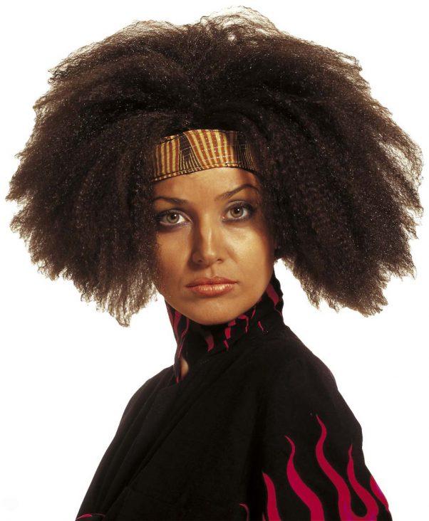 Photo du produit Perruque afro marron adulte