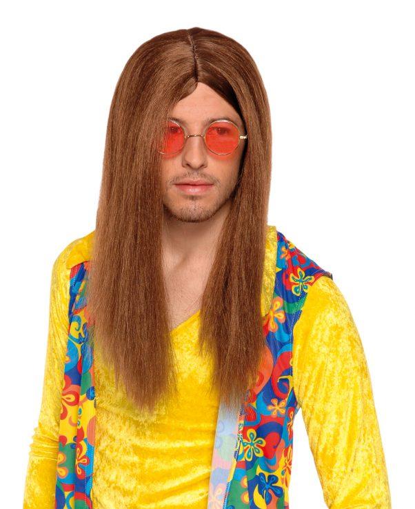Photo du produit Perruque hippie marron adulte