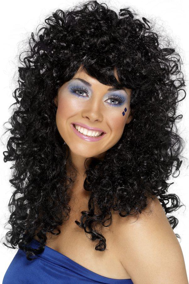 Photo du produit Perruque noire frisée femme