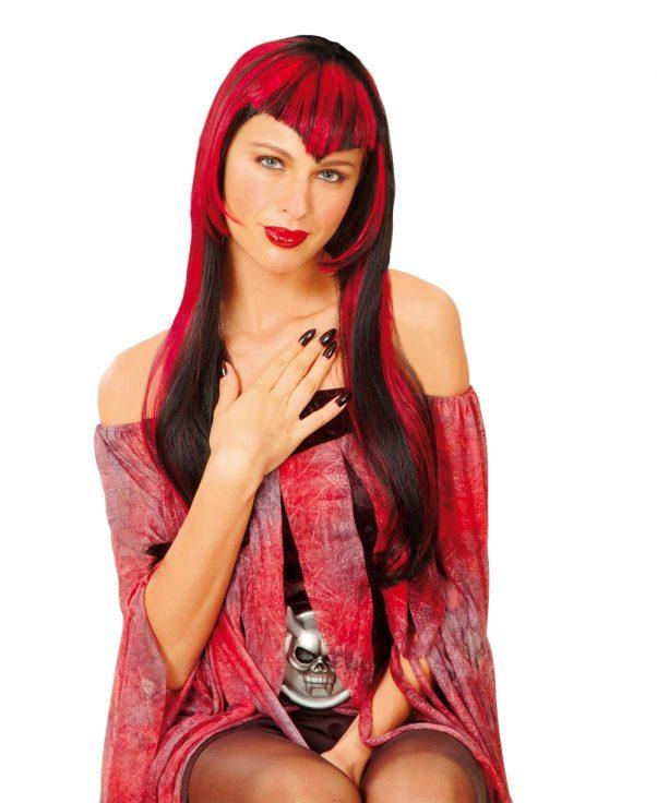 Photo du produit Perruque vampire rouge femme