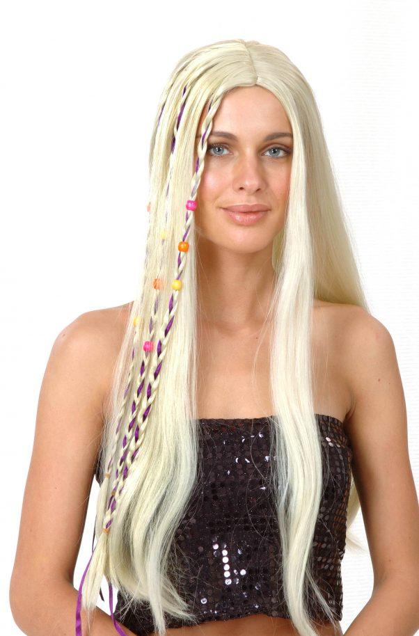 Photo du produit Perruque hippie blonde adulte