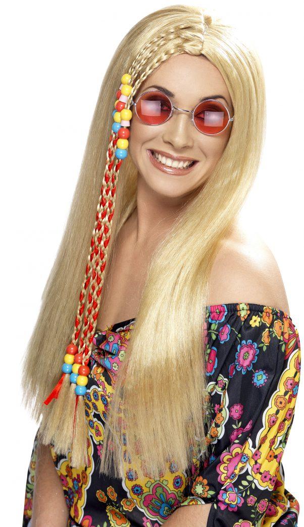 Photo du produit Perruque hippie blonde à tresses femme