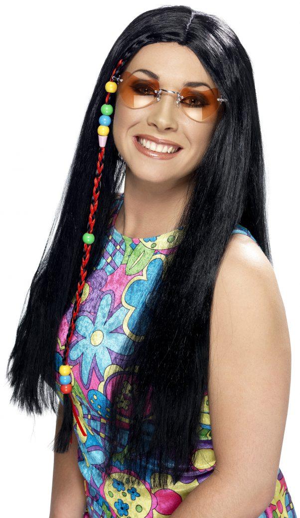Photo du produit Perruque hippie noire adulte