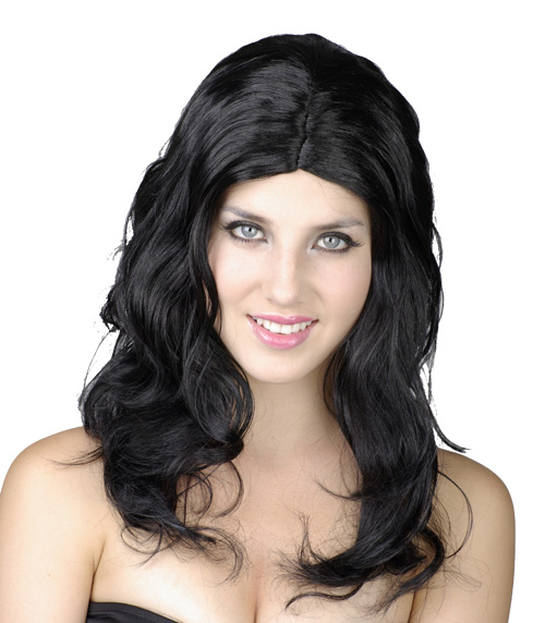 Photo du produit Perruque longue ondulée noire femme
