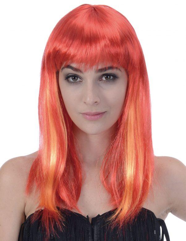 Photo du produit Perruque longue cheveux rouges femme