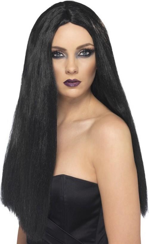 Photo du produit Perruque longue noire femme 60 cm