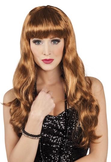 Photo du produit Perruque longue marron de star femme