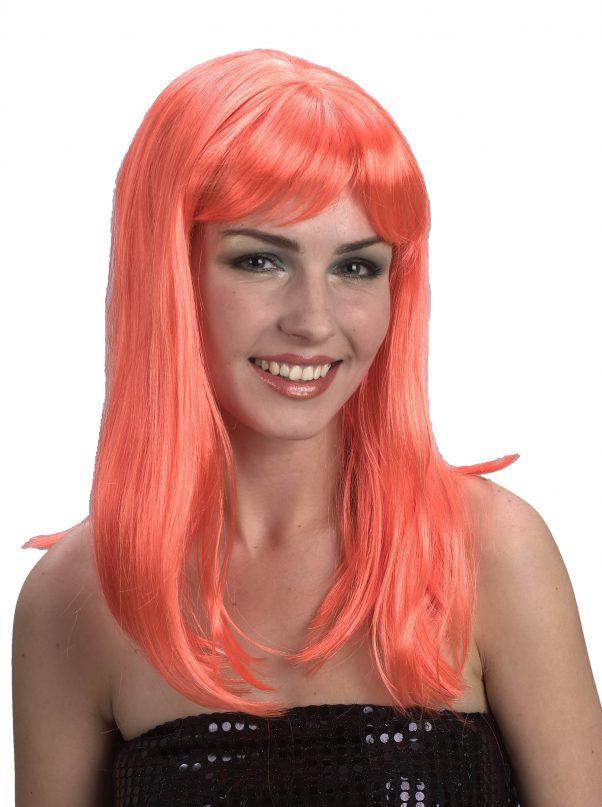 Photo du produit Perruque longue orange vif femme