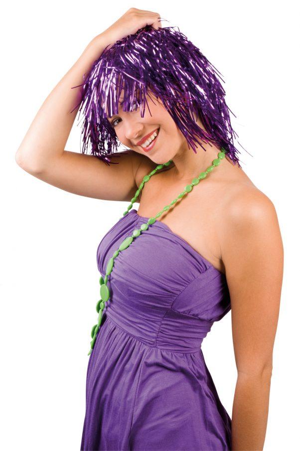Photo du produit Perruque métallique violette adulte