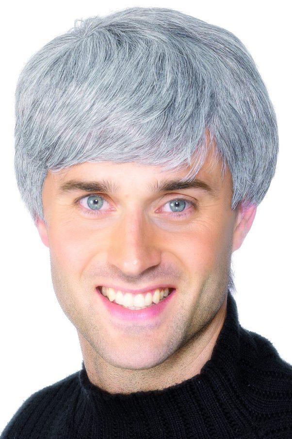 Photo du produit Perruque moderne grise homme