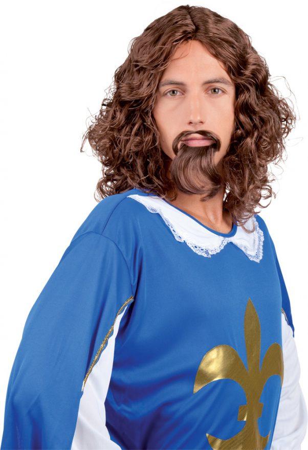 Photo du produit Perruque et moustache Mousquetaire homme