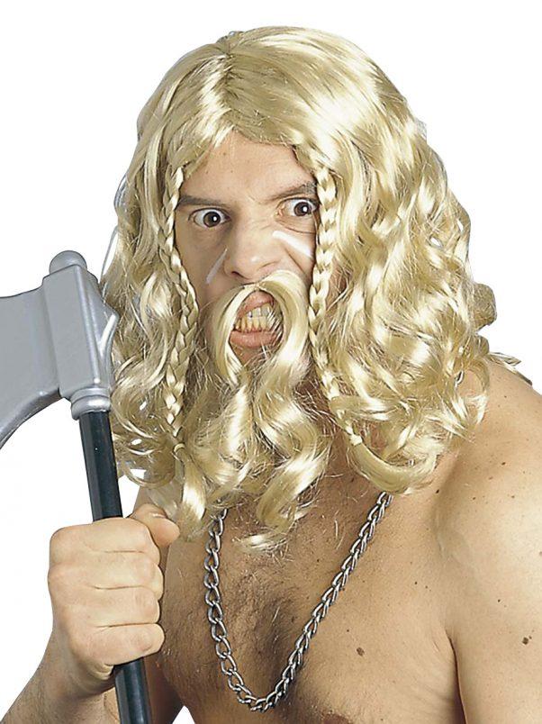 Photo du produit Perruque et moustache viking homme