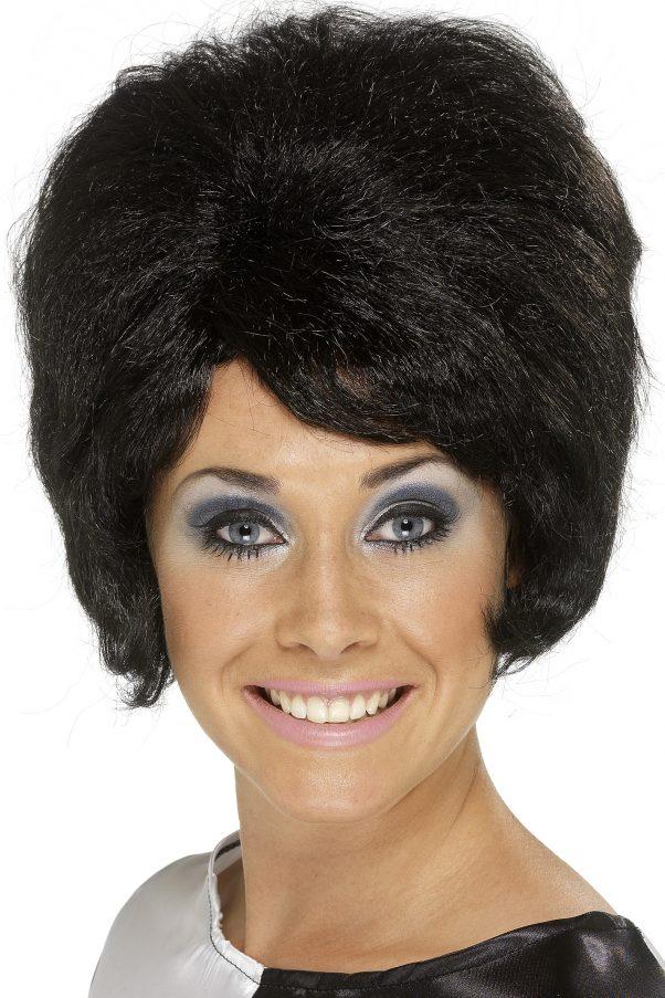 Photo du produit Perruque noire beehive femme