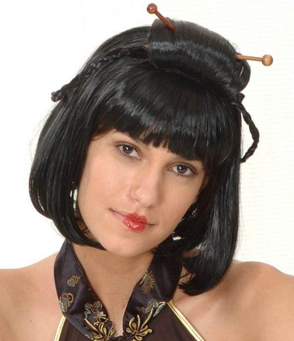 Photo du produit Perruque noire chinoise femme