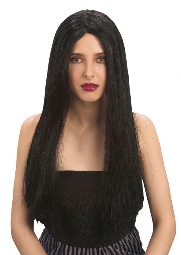 Photo du produit Perruque longue noire femme Halloween