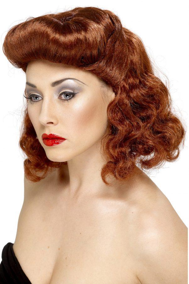 Photo du produit Perruque pin up marron femme
