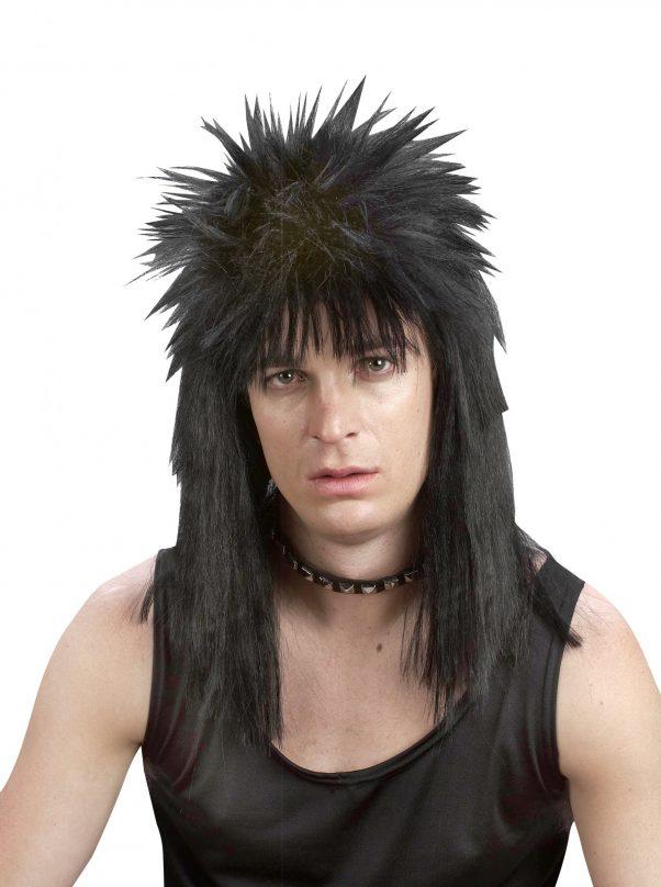 Photo du produit Perruque punk noire adulte