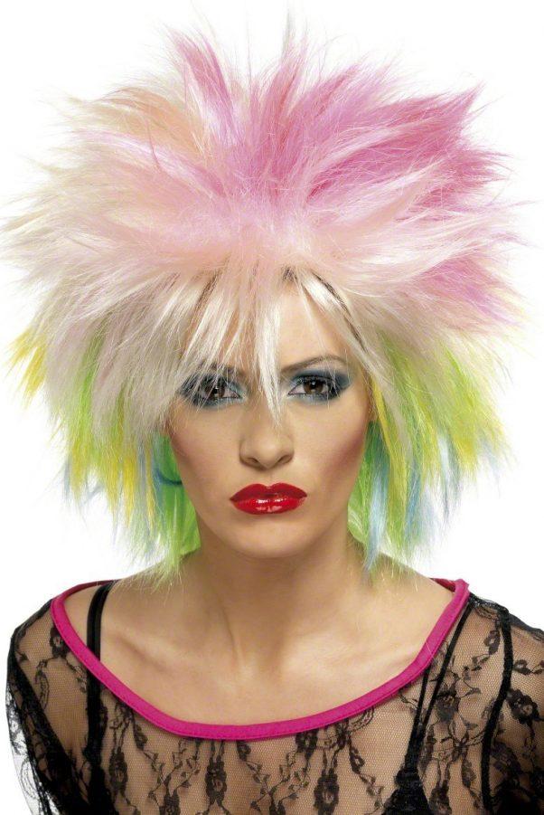 Photo du produit Perruque courte multicolore punk femme