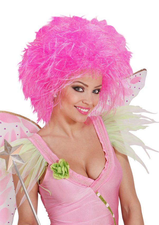 Photo du produit Perruque rose fluofemme