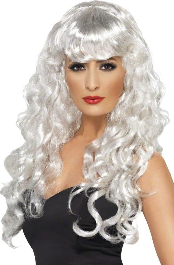 Photo du produit Perruque sirène bouclée blanche femme