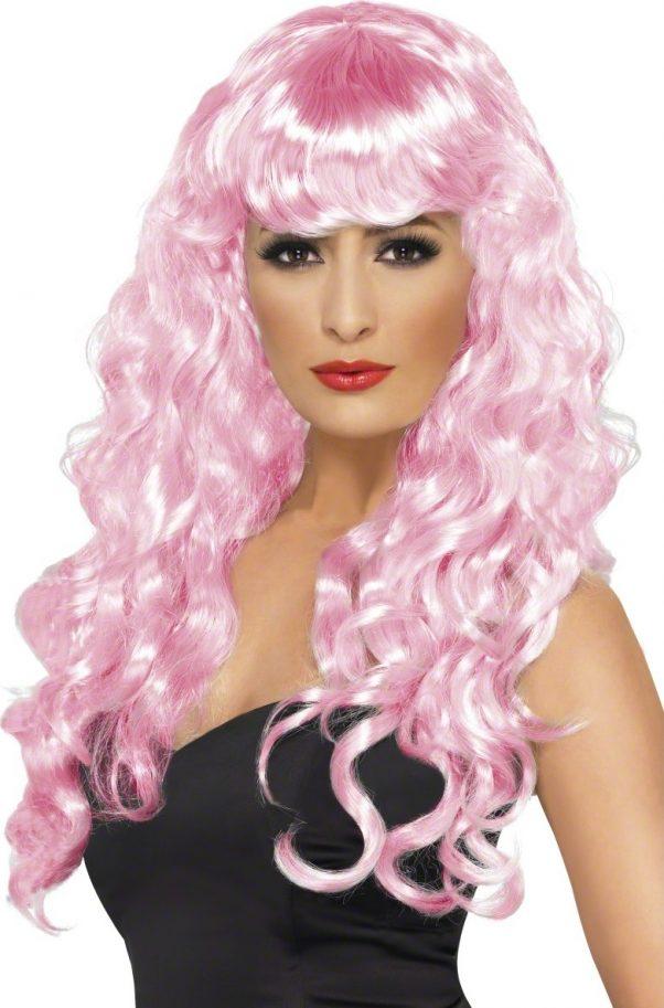 Photo du produit Perruque sirène bouclée rose femme