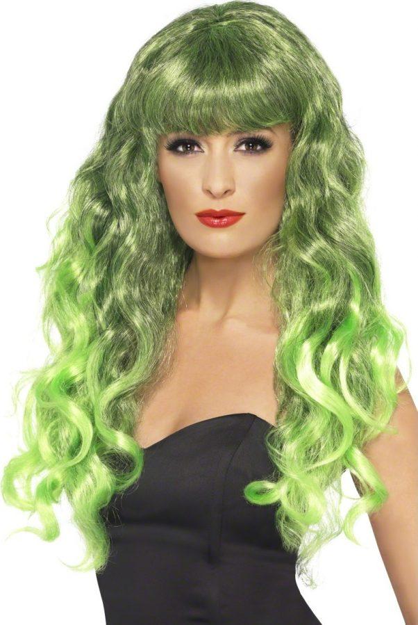 Photo du produit Perruque sirène bouclée verte femme