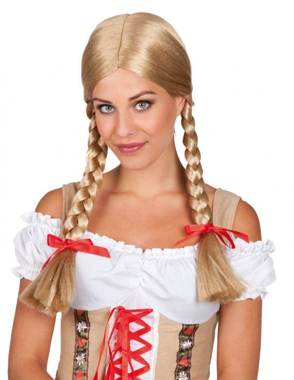 Photo du produit Perruque tressée blonde femme