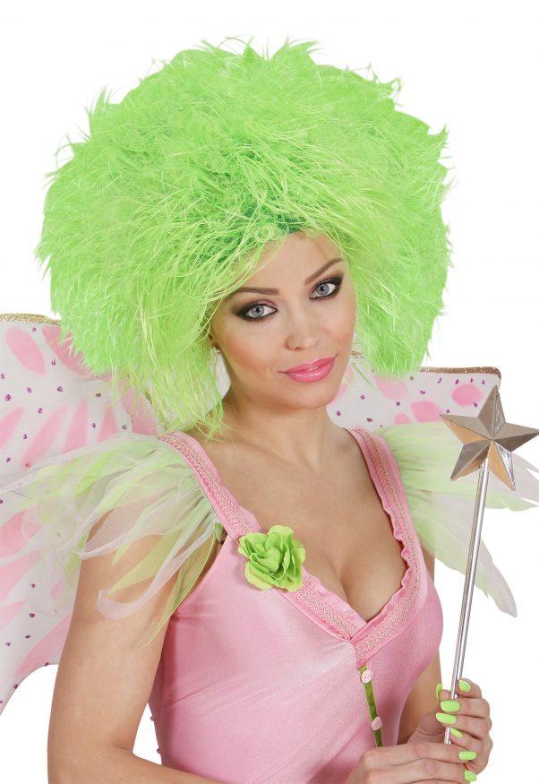 Photo du produit Perruque verte fluo femme