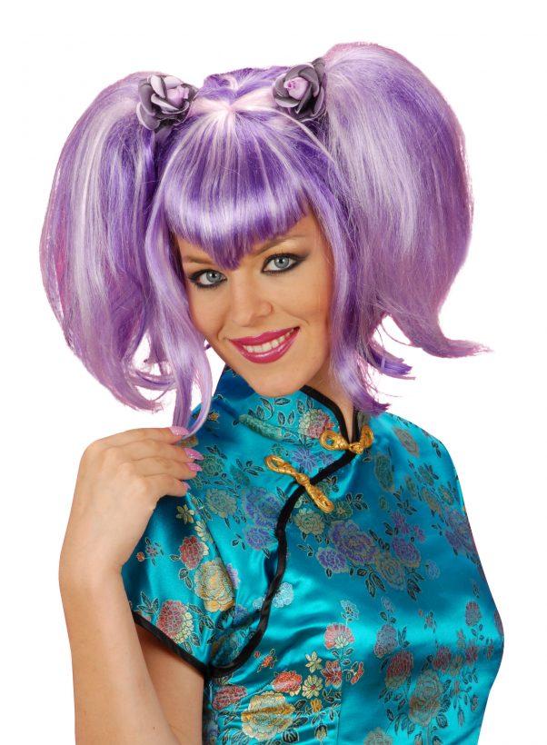Photo du produit Perruque violette chinoise femme