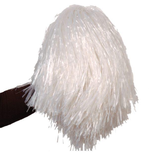 Photo du produit Pompon blanc métallique