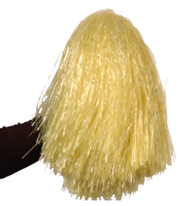 Photo du produit Pompon jaune paille métallique