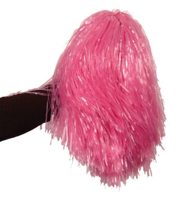 Photo du produit Pompon rose métallique