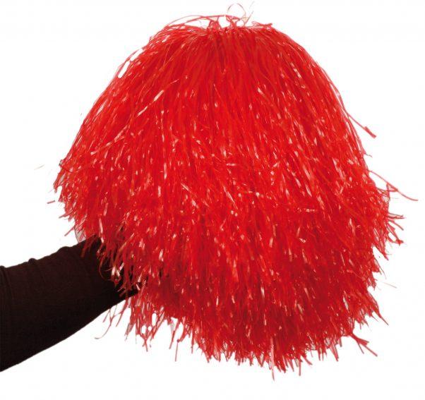 Photo du produit Pompon rouge métallique