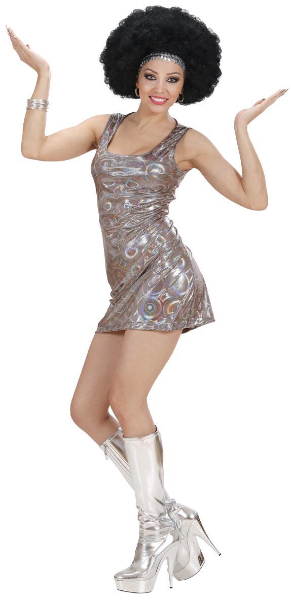 Photo du produit Déguisement disco argent sexy femme