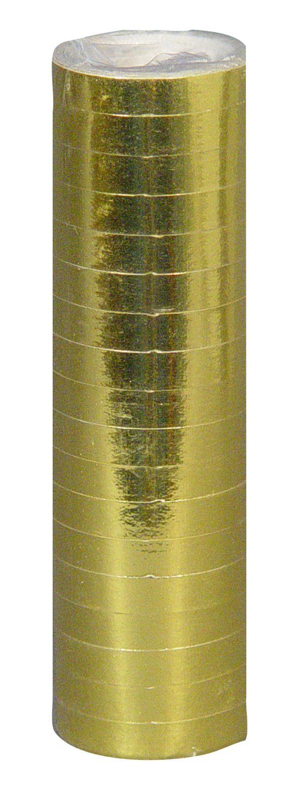 Photo du produit Rouleau de serpentins or