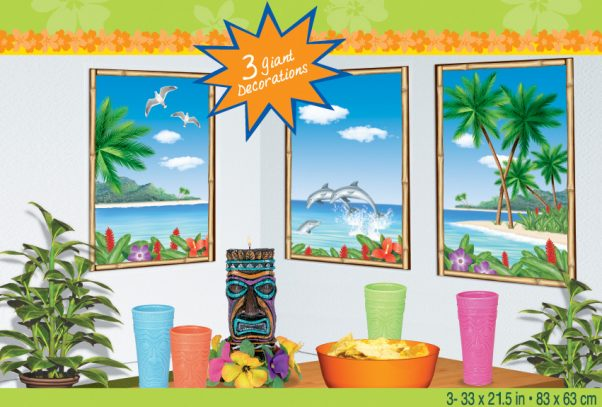 Photo du produit Décorations murales île paradisiaque
