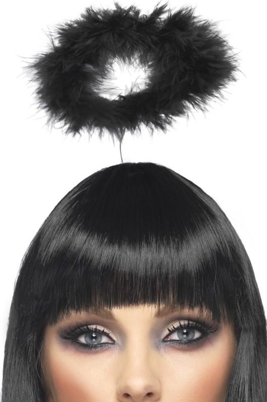 Photo du produit Serre-tête auréole noire adulte