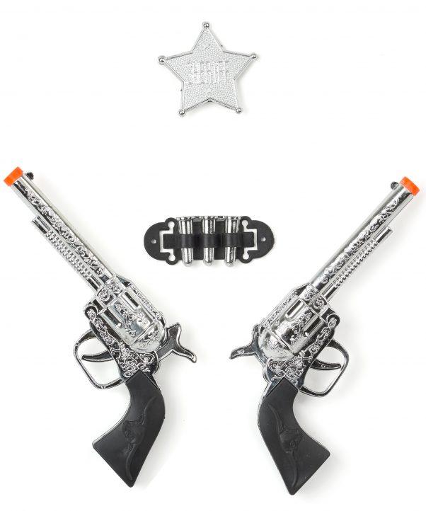 Photo du produit Set de 2 pistolets en plastique enfant