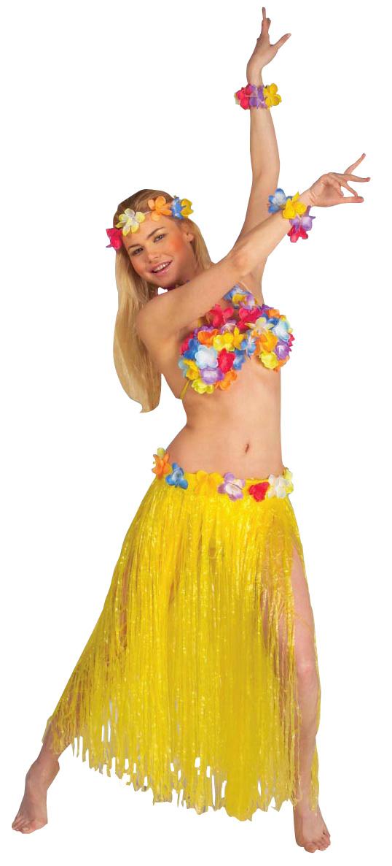 Photo du produit Set complet Hawaï jaune adulte