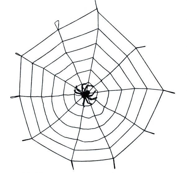 Photo du produit Toile araignée noire avec araignée